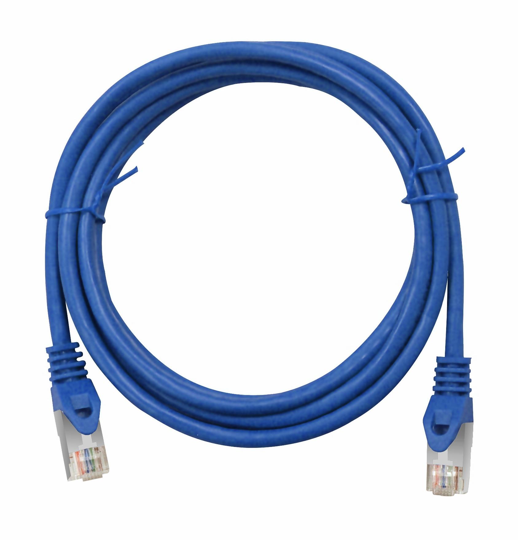 1 Stk Patchkabel RJ45 geschirmt Cat.6, PVC, blau, 3,0m H6GLB03K0B
