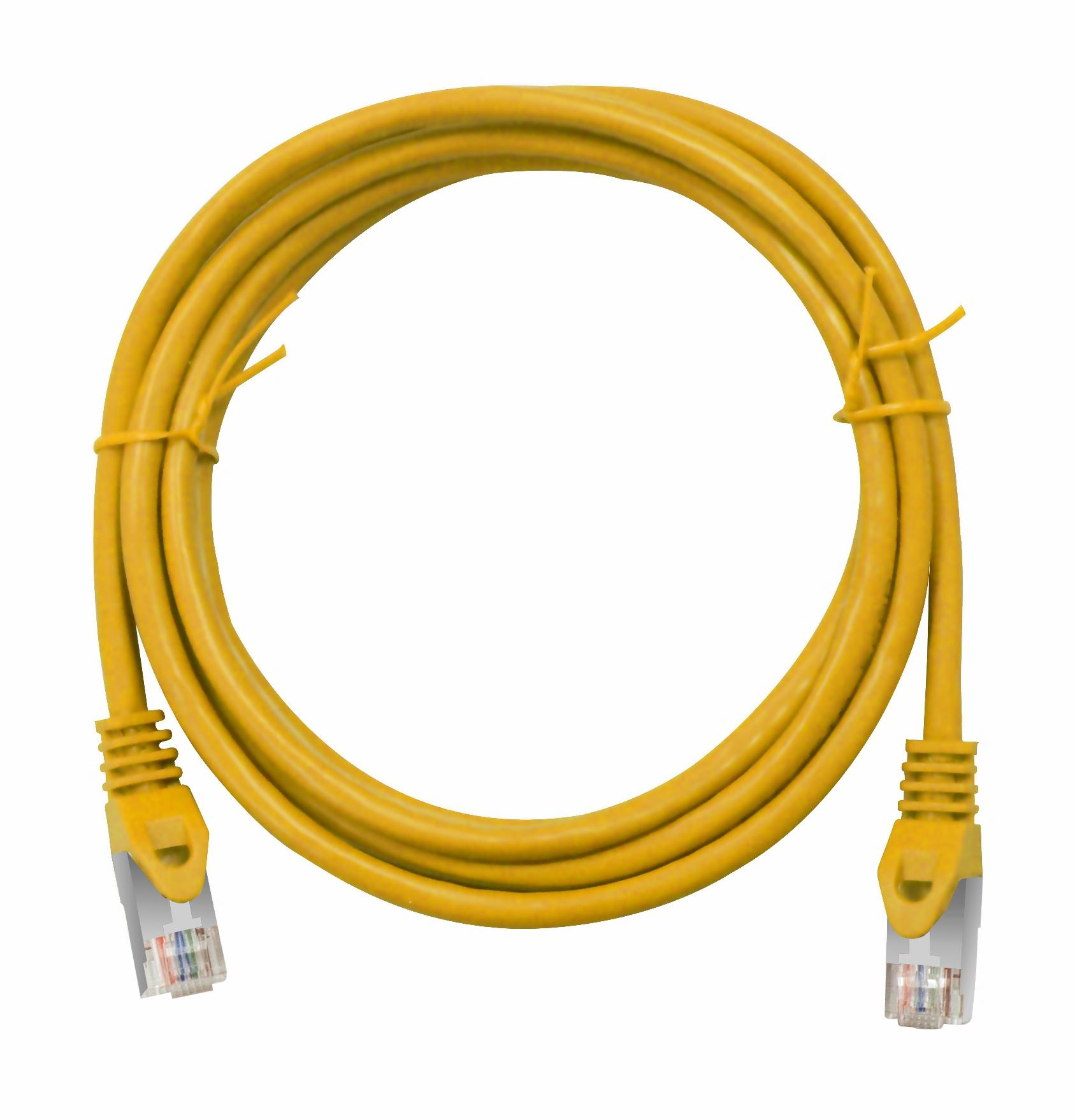 1 Stk Patchkabel RJ45 geschirmt Cat.6, PVC, gelb, 0,5m H6GLY00K5Y