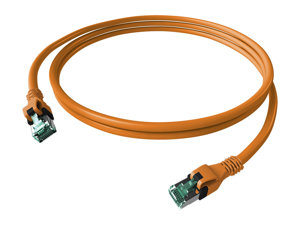 1 Stk DualBoot PushPull Patchkabel, Cat.6a, geschirmt, orange 7,5m H6GPN07K5N