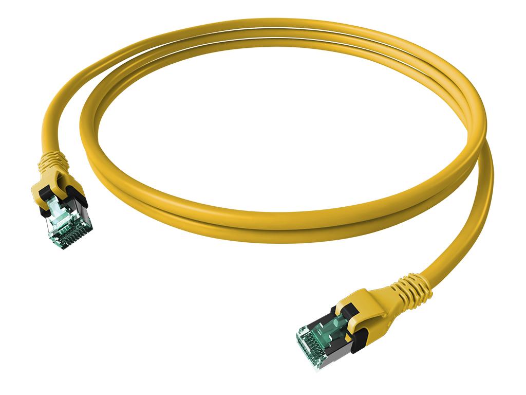 1 Stk DualBoot PushPull Patchkabel, Cat.6a, geschirmt, gelb, 1m H6GPY01K0Y