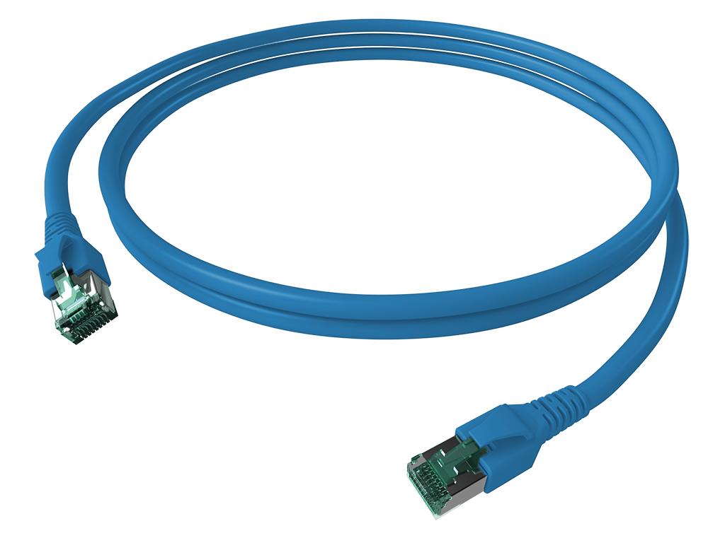 1 Stk FlexBoot Patchkabel, Cat.6a, geschirmt, blau, 7,5m H6GTB07K5B