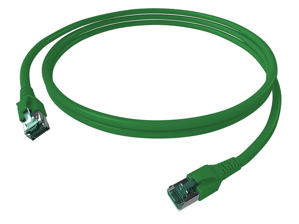 1 Stk FlexBoot Patchkabel, Cat.6a, geschirmt, grün, 7,5m H6GTU07K5U