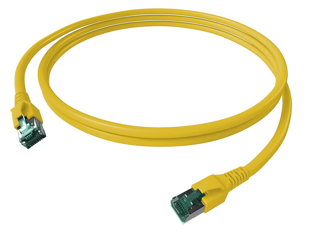 1 Stk FlexBoot Patchkabel, Cat.6a, geschirmt, gelb, 7,5m H6GTY07K5Y