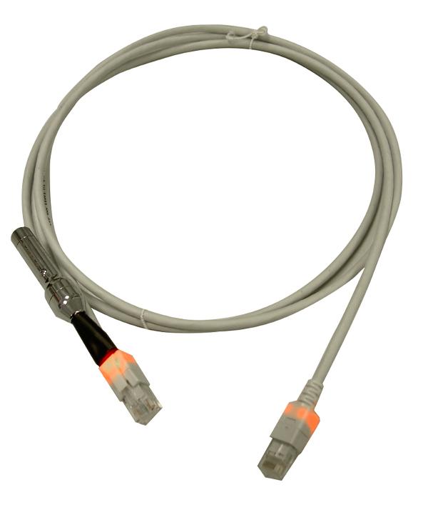 1 Stk LED Patchkabel RJ45 ungeschirmt Cat.6, LS0H, grau, 2,0m H6USG02K0G