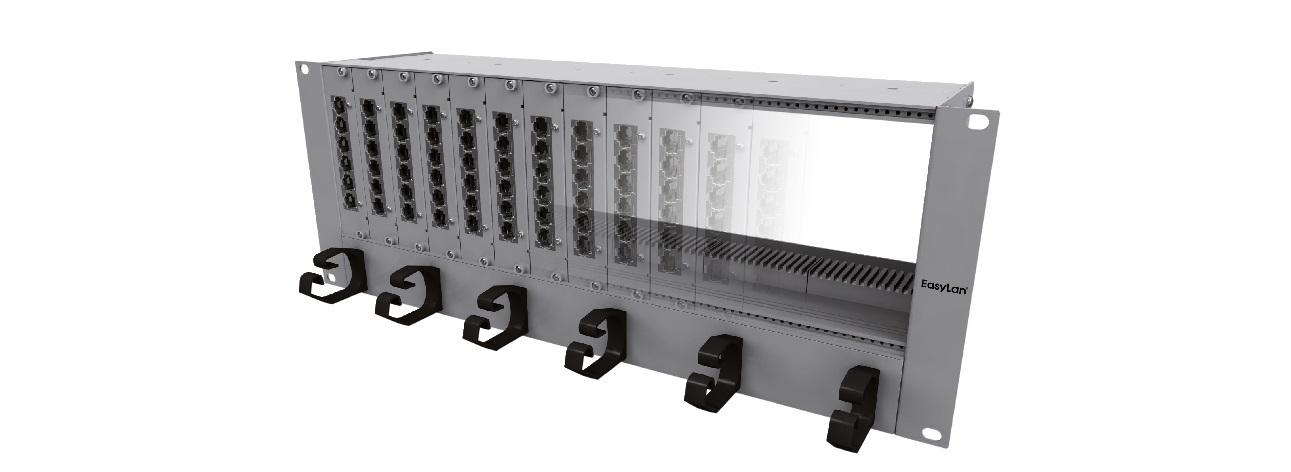 1 Stk Modulträger mit Überlängenschublade, 19, 3+1HE, 7TE HEKB3712U-