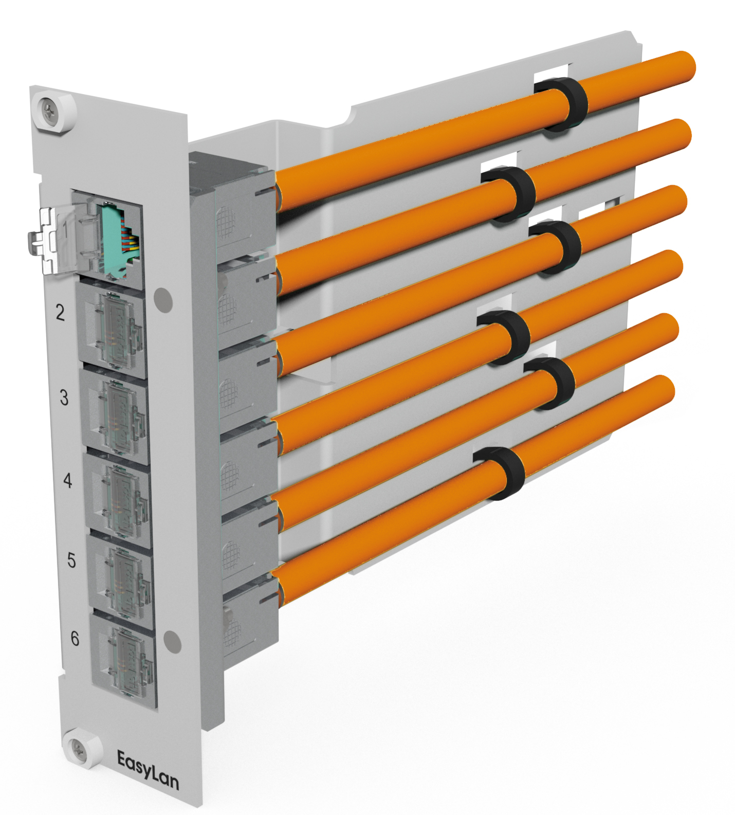 1 Stk preLink/fixLink -Einschubmodul 6xRJ45, 7TE, für Modulträger HEKBM07---