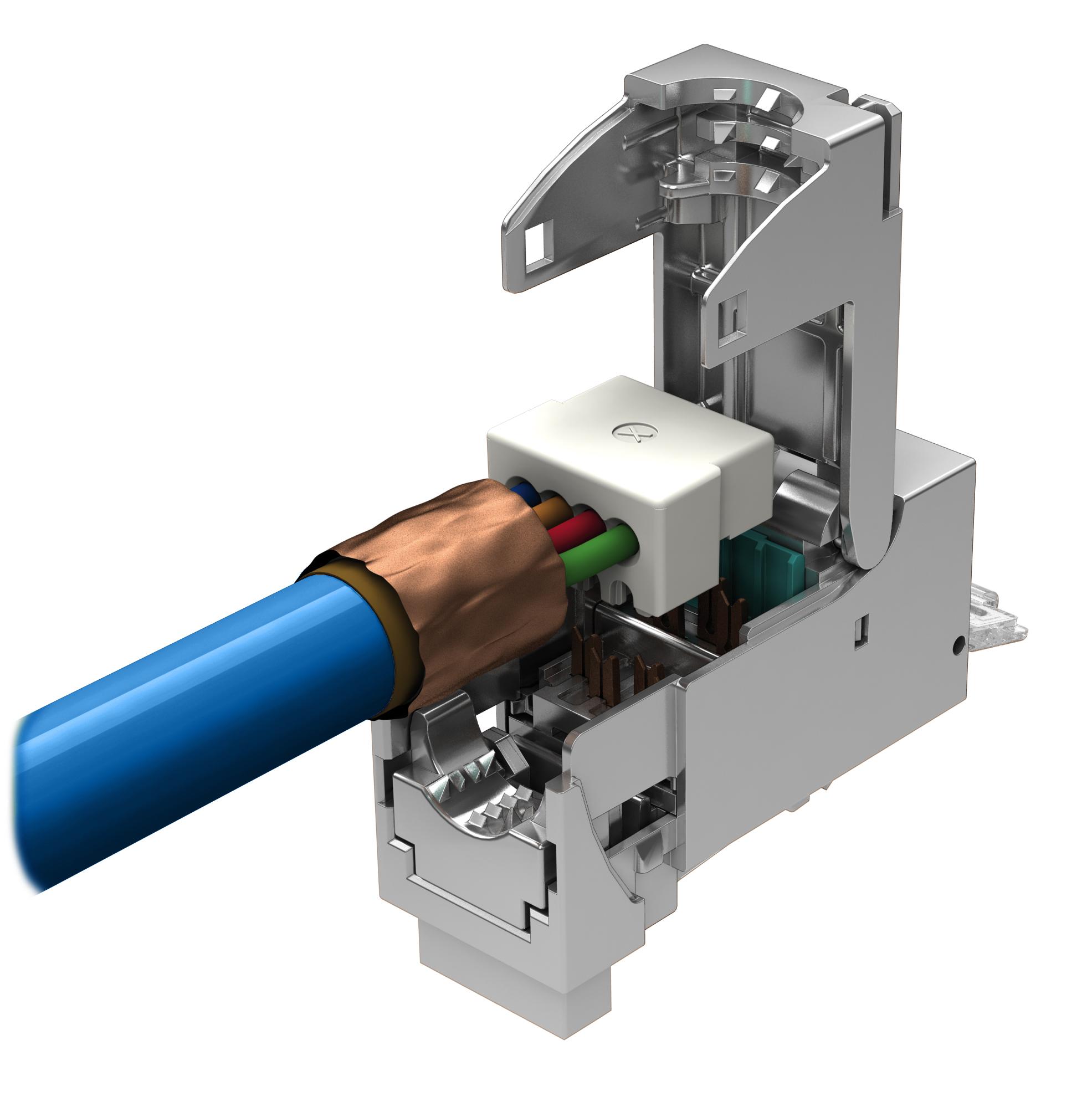 1 Stk fixLink SL RJ45 geschirmt Cat.6a AWG 27-26 PVP VPE:1 HEKFM6GGF1