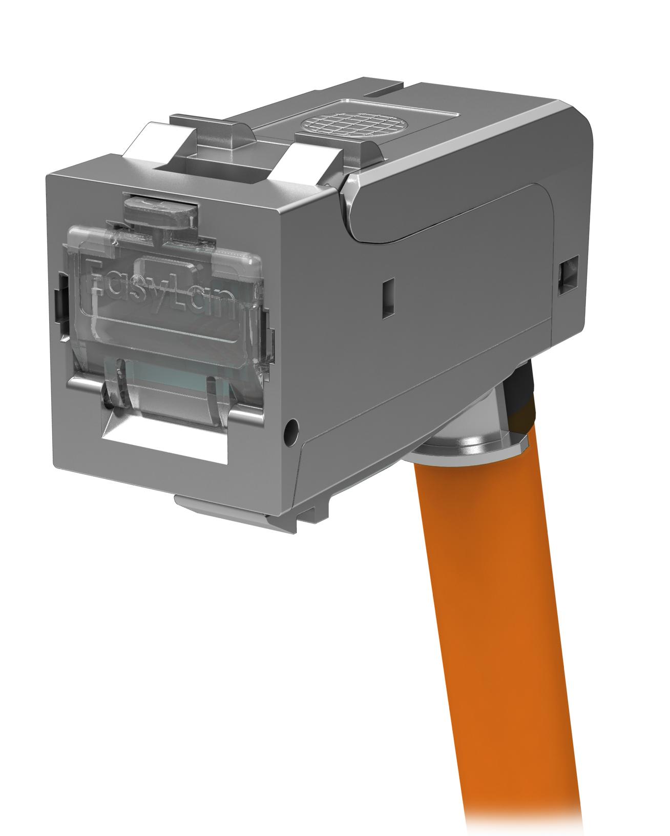 1 Stk fixLink SL RJ45 geschirmt Cat.6a AWG 24-22 gewinkelt VPE:24 HEKFM6GWI2