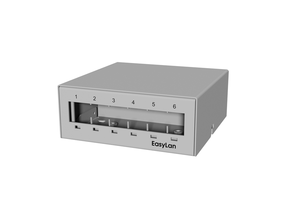 1 Stk preLink/fixLink Aufbau-Consolidation Point Panel 6xRJ45 HEKFPCP06-