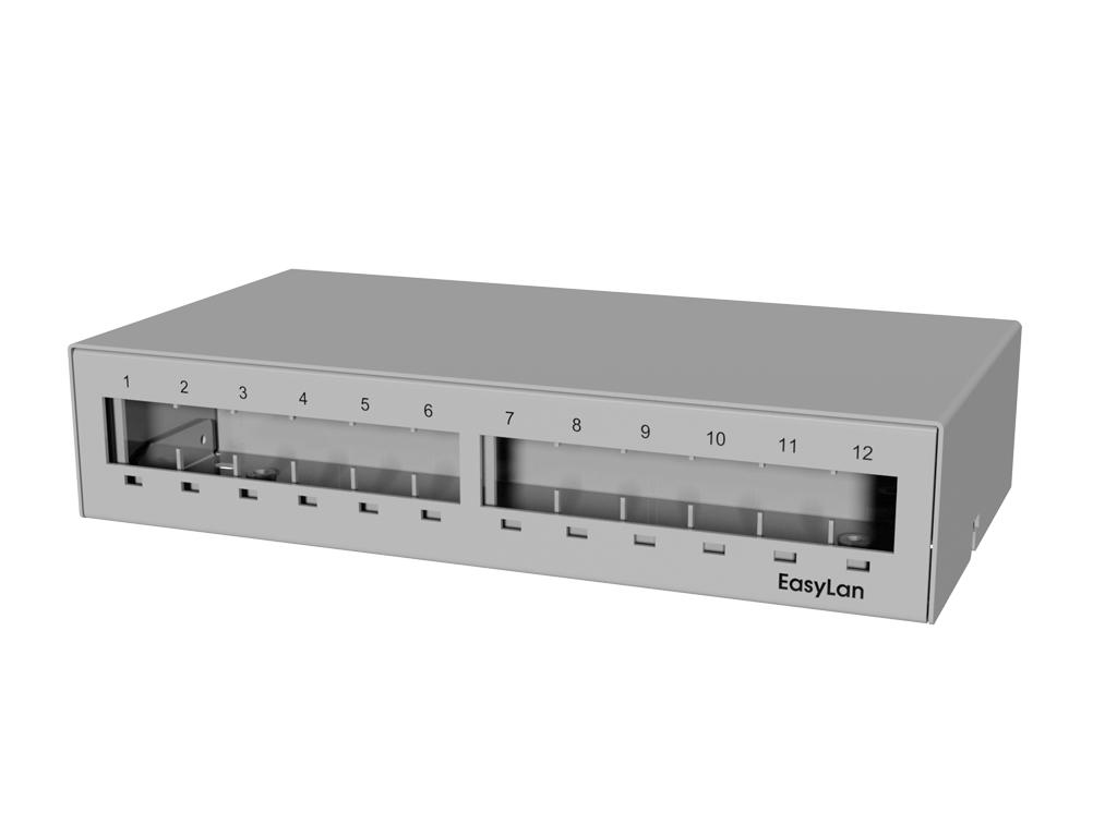 1 Stk preLink/fixLink Aufbau-Consolidation Point Panel für 12xRJ45 HEKFPCP12-