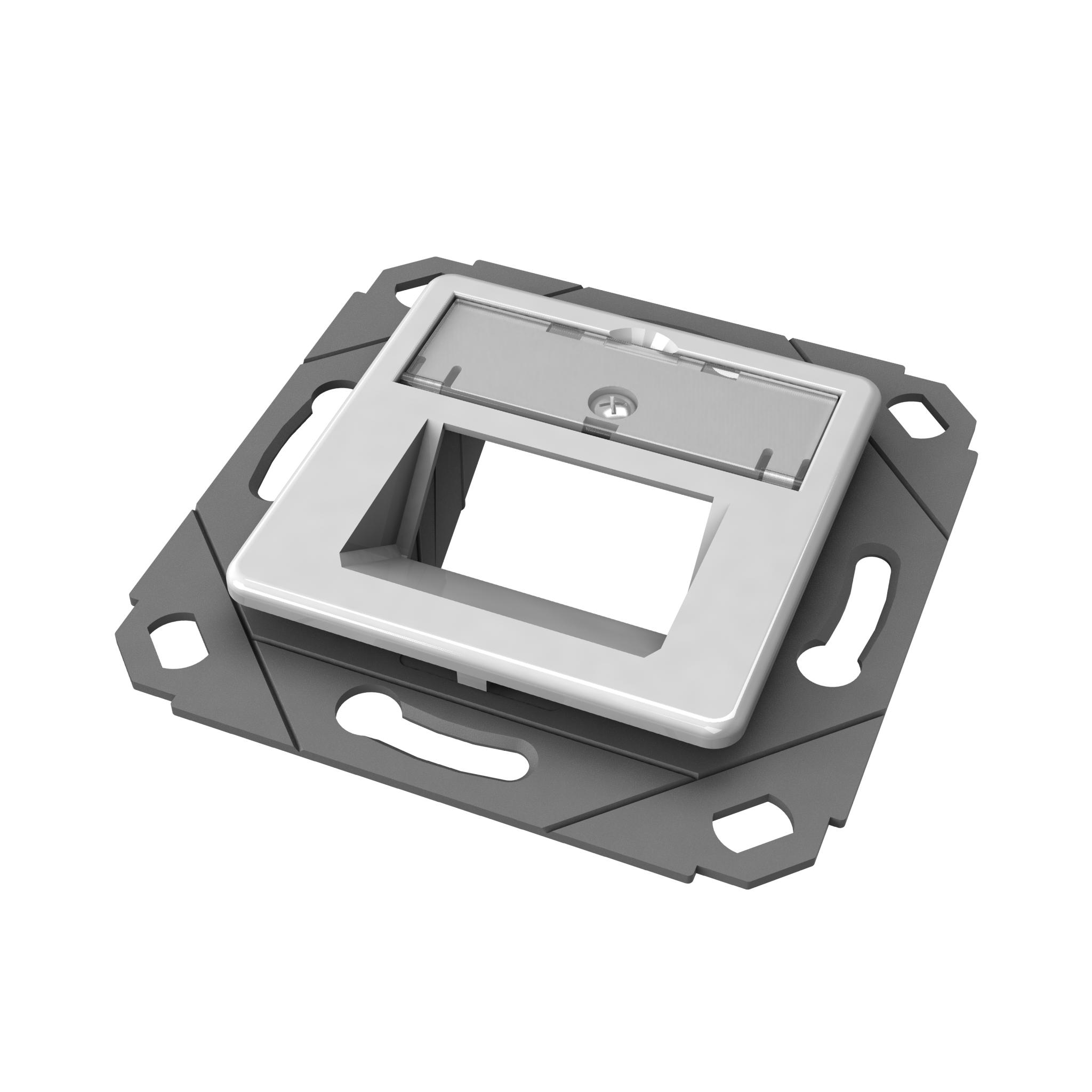 1 Stk preLink/fixLink designfähige Modulaufnahme SL 2-fach HEKFPD2WBV