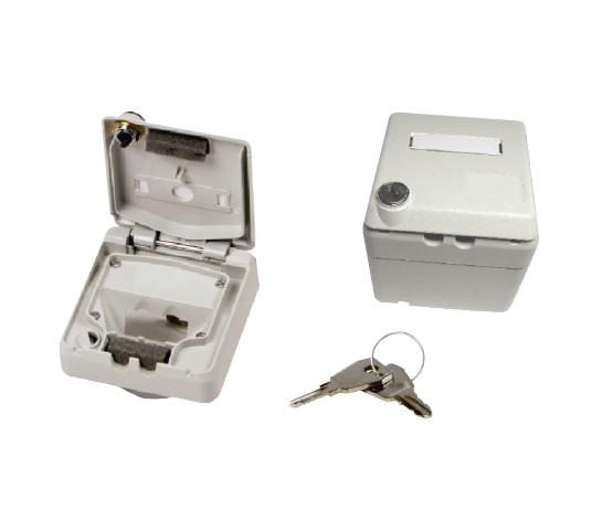 1 Stk preLink/fixLink Aufputzgehäuse, IP 44, absperrbar, 2-fach HEKFPDIA--