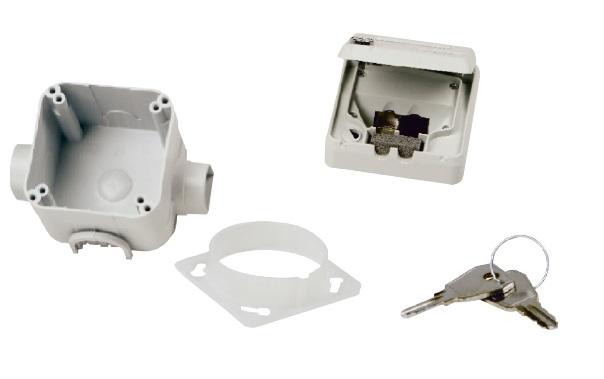 1 Stk preLink/fixLink Unterputzgehäuse, IP 44, absperrbar, 2-fach HEKFPDIU--