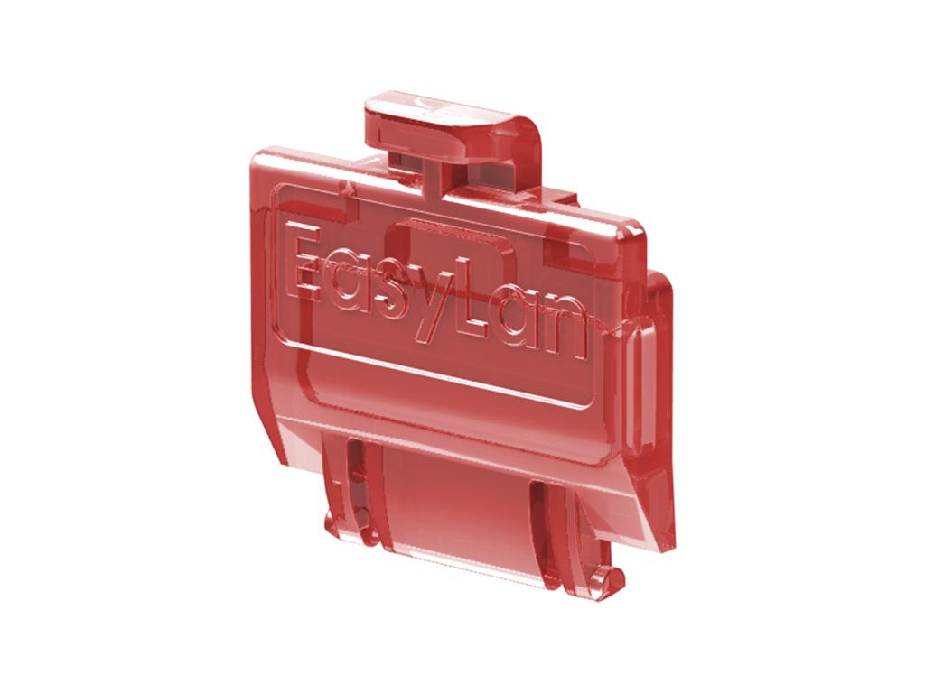 1 VE preLink/fixLink Staubschutzklappe Rot (transparent) 50 Stk. HEKFPZDCR-