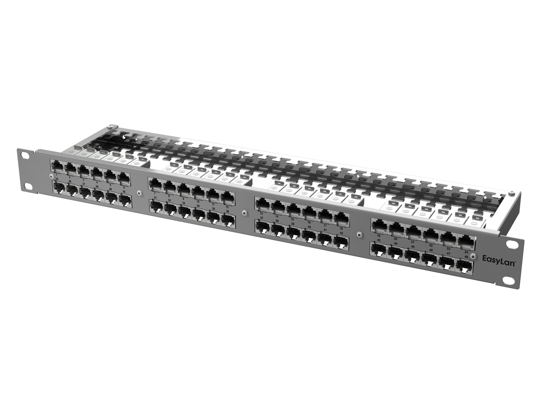 1 Stk preLink RZ-Panel L.E.O. 19 1HE 48x RJ45 Cat.6A, AWG 27-26 HEKPRL48FG