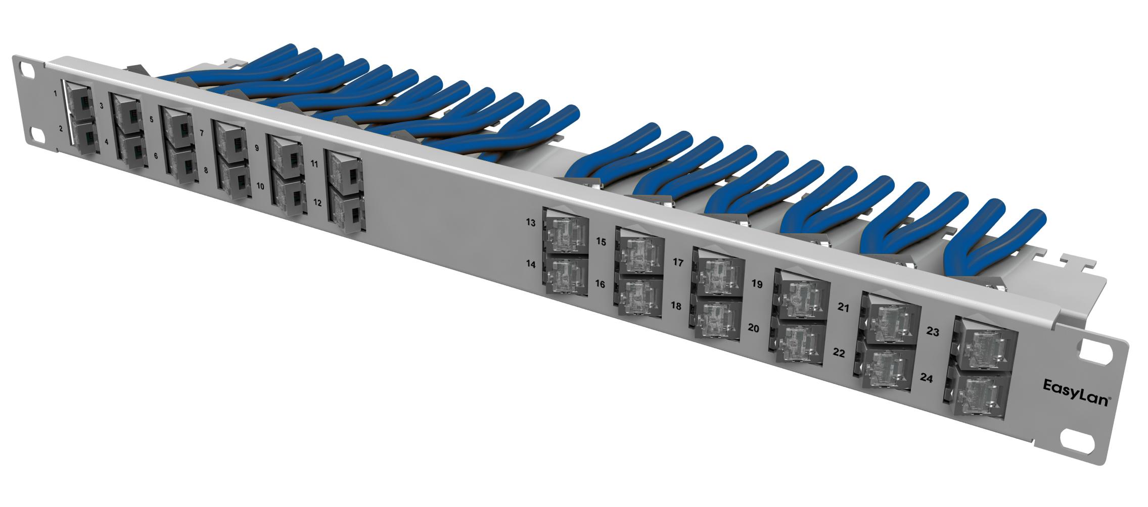 1 Stk preLink/fixLink Winkelpanel 1HE, 19, Variante 1 HEKR0240LR
