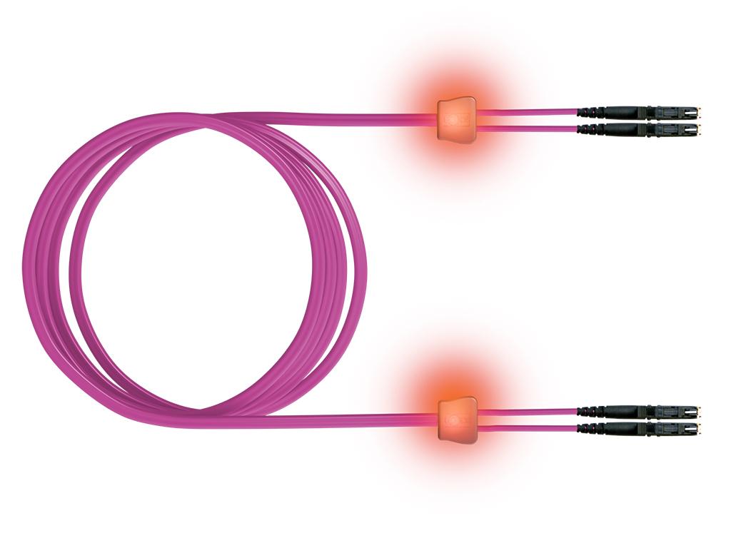 1 Stk LWL LED Patchkabel Duplex, E2000/E2000, G50/125 OM4, 2m HEL24EE02L