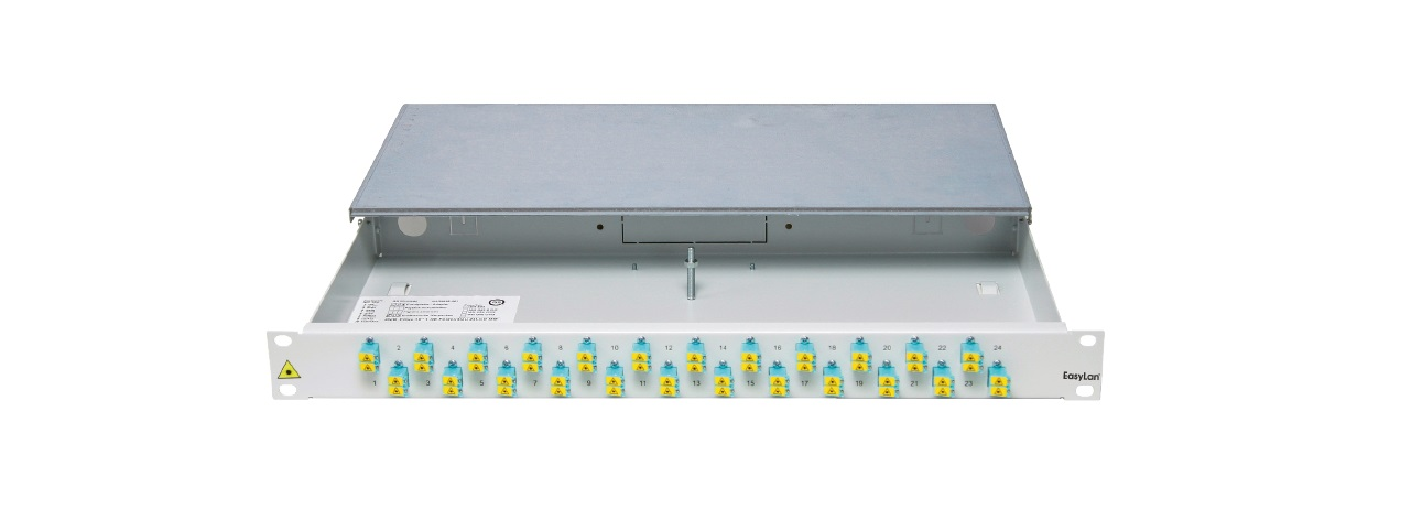 1 Stk LWL - Verteilerfeld für FODH, 19, 1HE, mit 06xSCD-APC SM HELLV12SDF