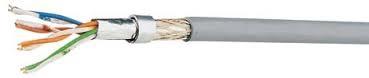 100 m Flexkabel SF/UTP 4x2xAWG26/7, Cat.5e, 200Mhz, PVC, grau HKF2SFUGP1