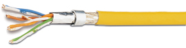 100 m Flexkabel SF/UTP 4x2xAWG26/7, Cat.5e, 200MHz, PVC, gelb HKF2SFUYP5