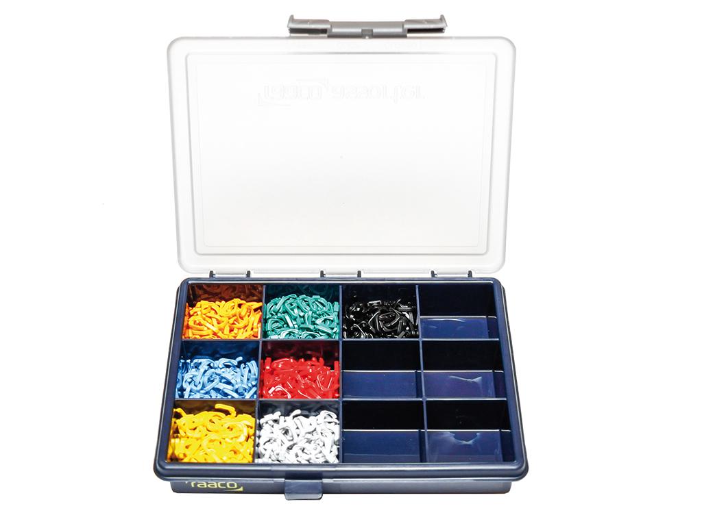 1 Stk DualBoot LED Patchkabel Farbkodierung, Sortimentsbox HLEDCLIP11