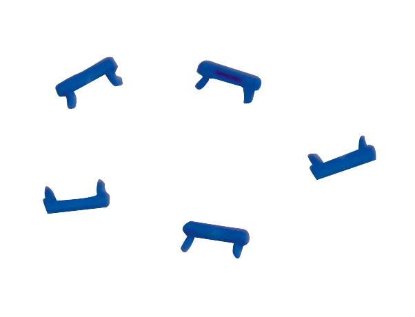 1 VE Clip zur Farbcodierung für LED Patchkabel, blau, 100 Stück HLEDCLIPB-