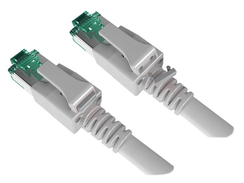 1 VE Farbkodierung für DualBoot LED Patchkabel, grau 100 Stück HLEDCLIPG-