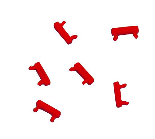 1 VE Clip zur Farbcodierung für LED Patchkabel, rot, 100 Stück HLEDCLIPR-