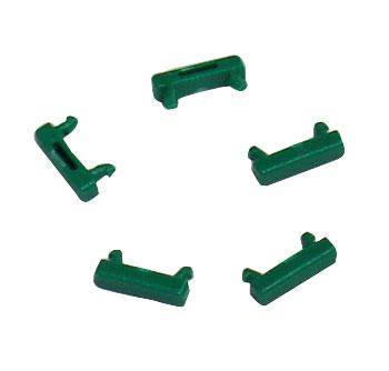 1 VE Clip zur Farbcodierung für LED Patchkabel, grün, 100 Stück HLEDCLIPU-