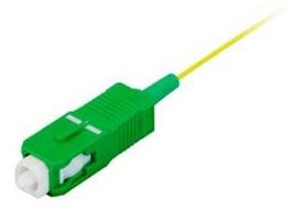 1 VE LWL Pigtail SC/APC, 9/125µm OS2, 2.0m, Easy Strip, gelb,4Stk HLP09D002E
