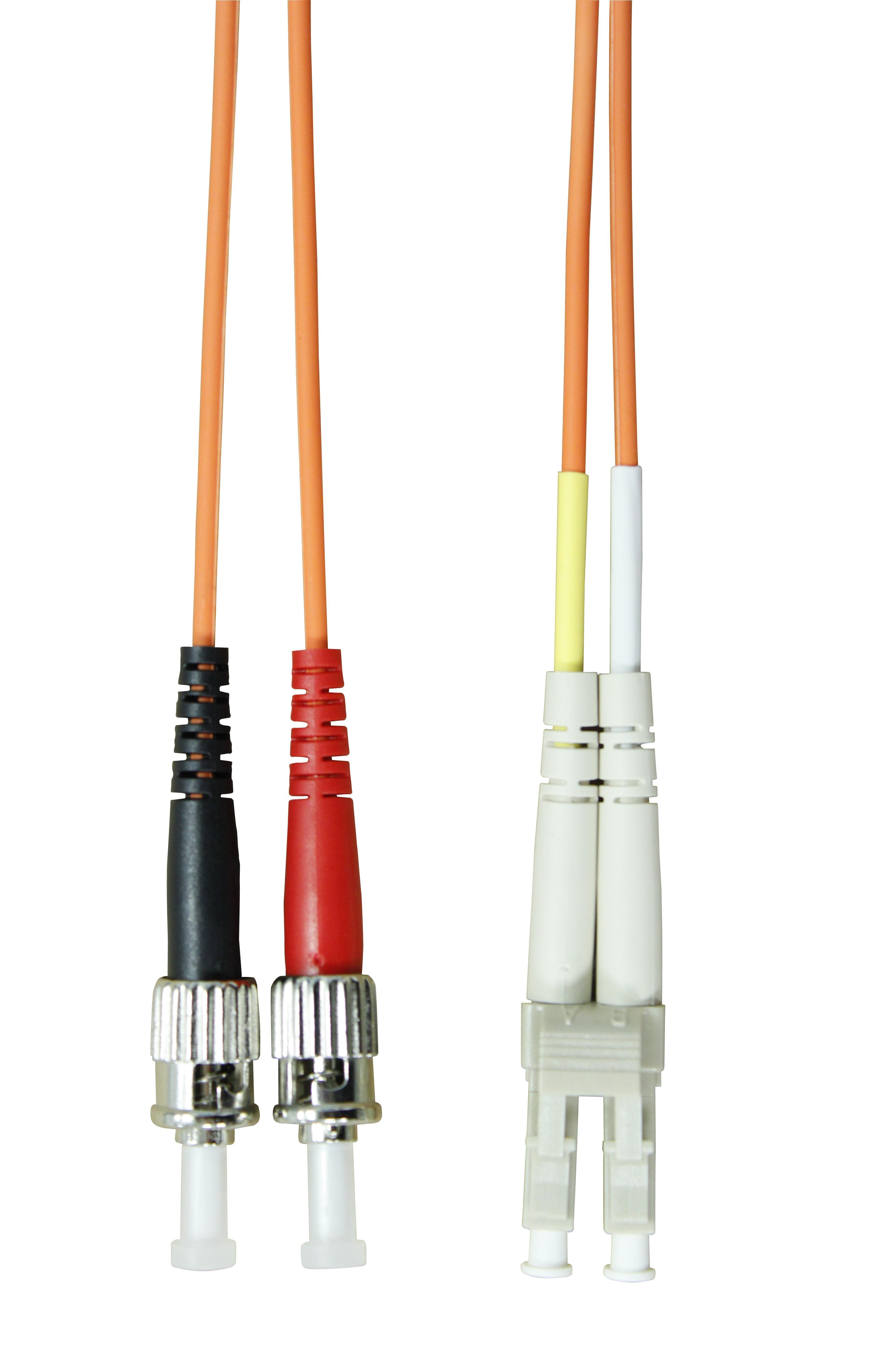 1 Stk LWL Patchkabel Duplex LC / ST,50/125µm OM2,LS0H-3,orange, 2m HLP25LT02F