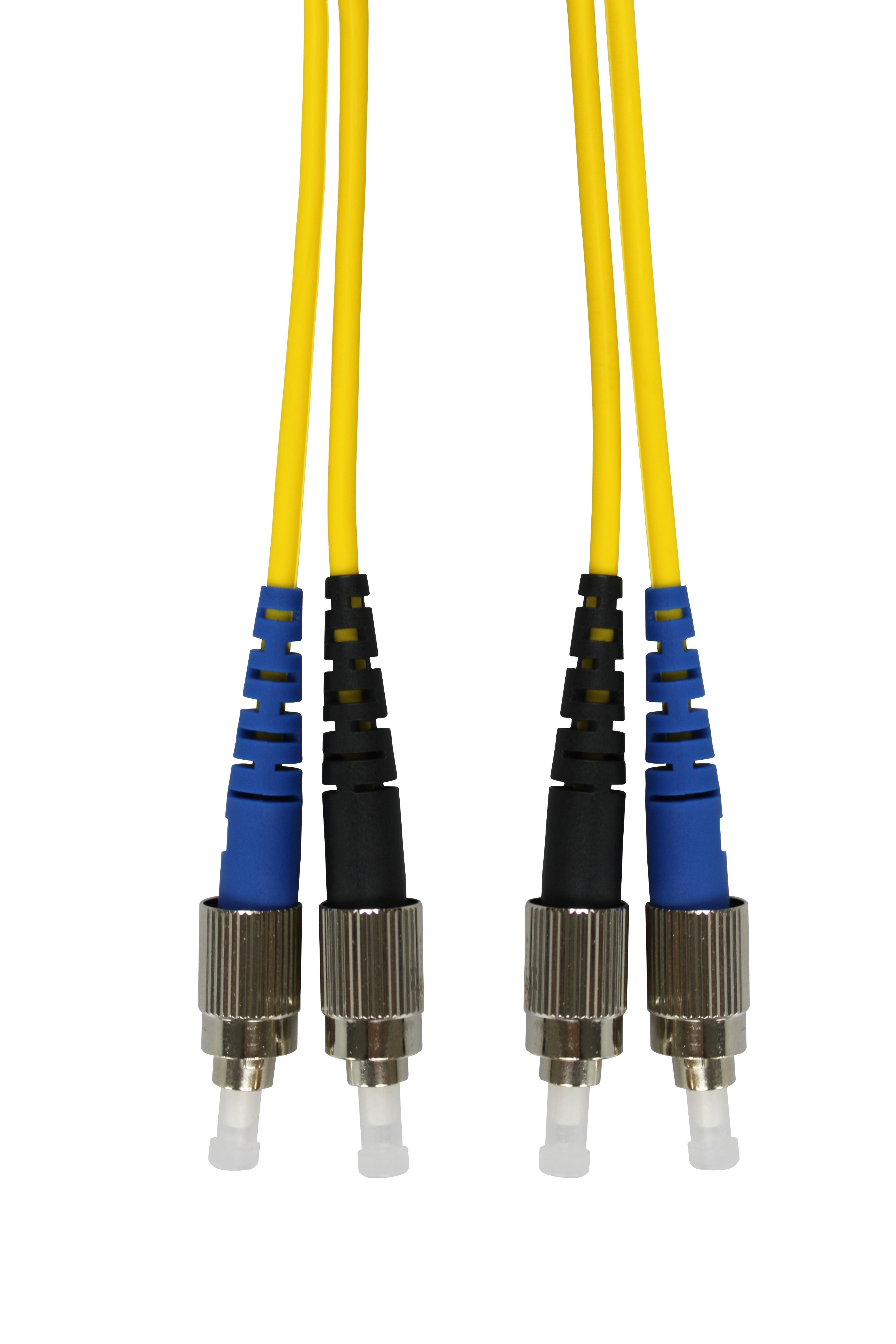 1 Stk LWL Patchkabel Duplex FC/FC, 9/125µm OS2, LS0H-3, gelb,10.0m HLP29FF10F