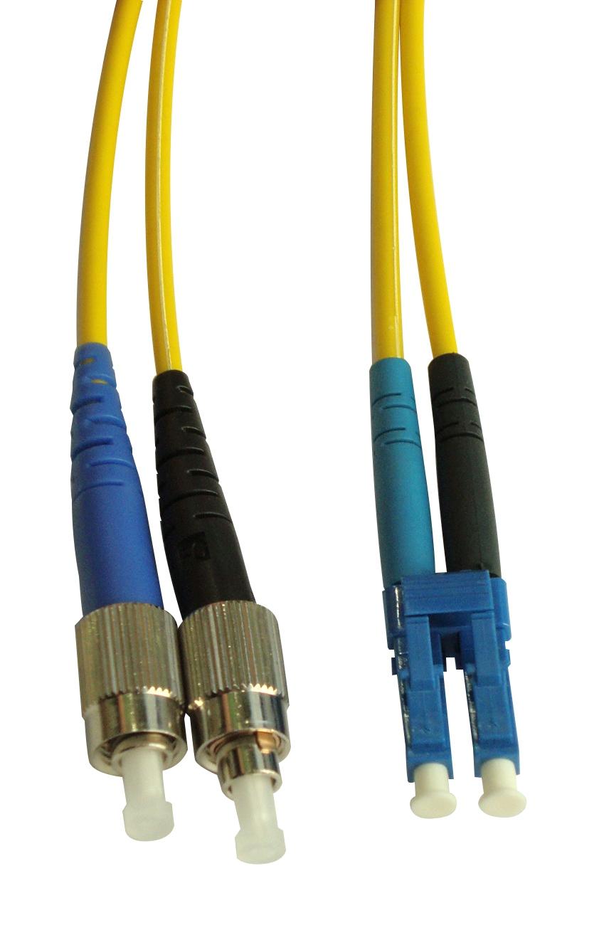 1 Stk LWL Patchkabel Duplex LC/FC, 9/125µm OS2, LS0H-3, gelb, 2.0m HLP29LF02F