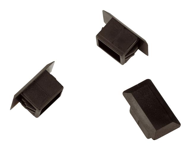 1 VE LWL Blindstoppel f. SC-Simplex/LC-Duplex Loch, schwarz,25Stk HLZPZKBX02