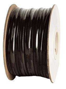 100 m Modularflachleitung 4-polig schwarz für Telefon-Patchkabel HMOFL4SCHW