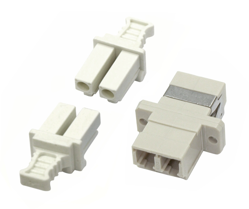 1 Stk LWL Kupplung LC-Duplex,Kunststoff,Multimode,phbr,Flansch, gr HMOL000051