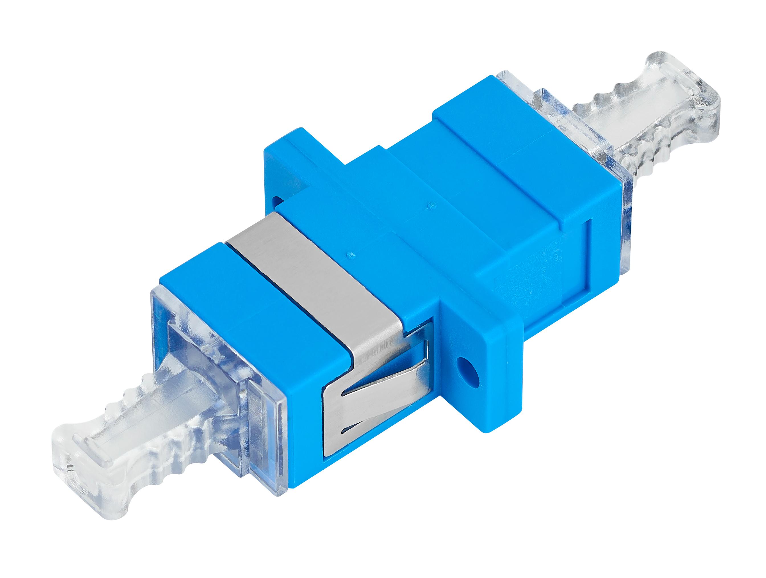 1 Stk LWL Kupplung SC-Simplex,Kunststoff,Singlemode,zirc, Fl, blau HMOL000055