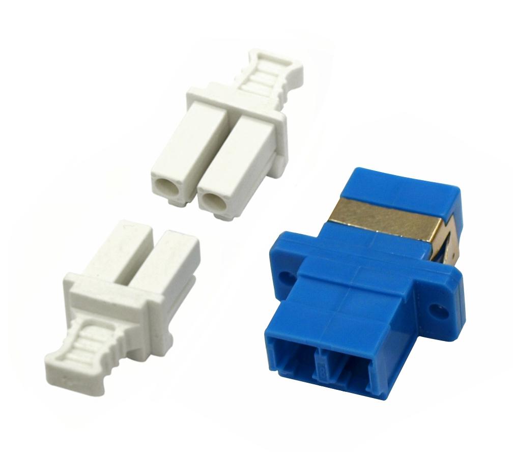 1 Stk LWL Kupplung LC-Duplex,Kunststoff,Singlemode,zirc,Flansch,bl HMOL000056