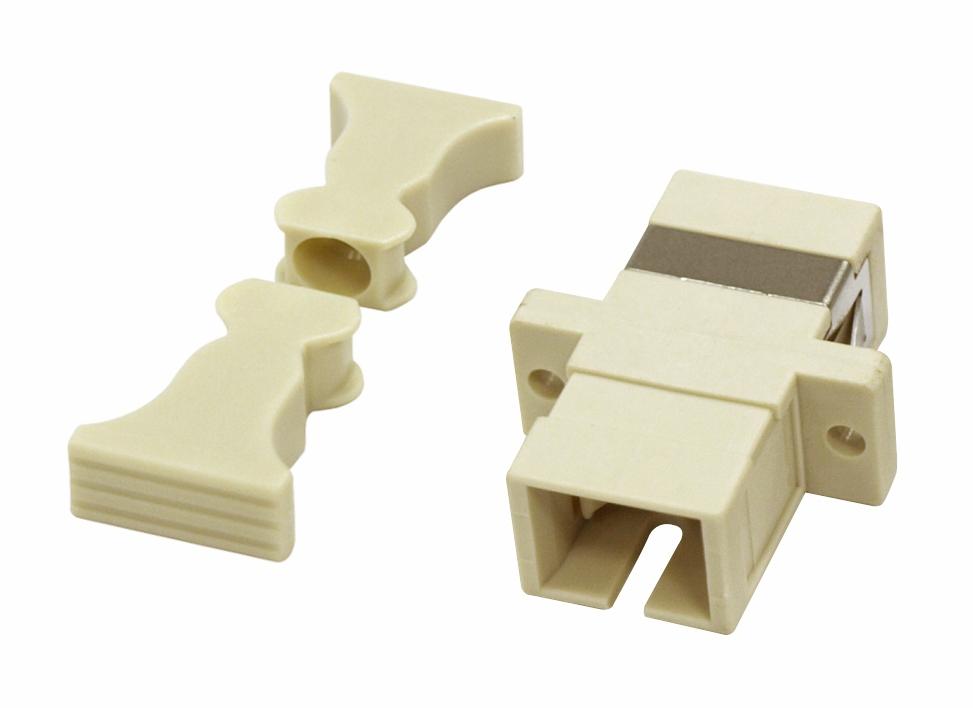 1 Stk LWL Kupplung SC-Simplex,Kunststoff,Multimode,phbr,Flansch,gr HMOL000058