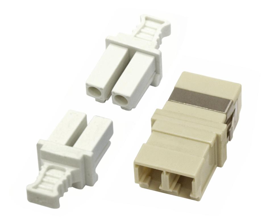 1 Stk LWL Kupplung LC-Duplex, Multimode phbr, ohne Flansch, grau HMOL000103