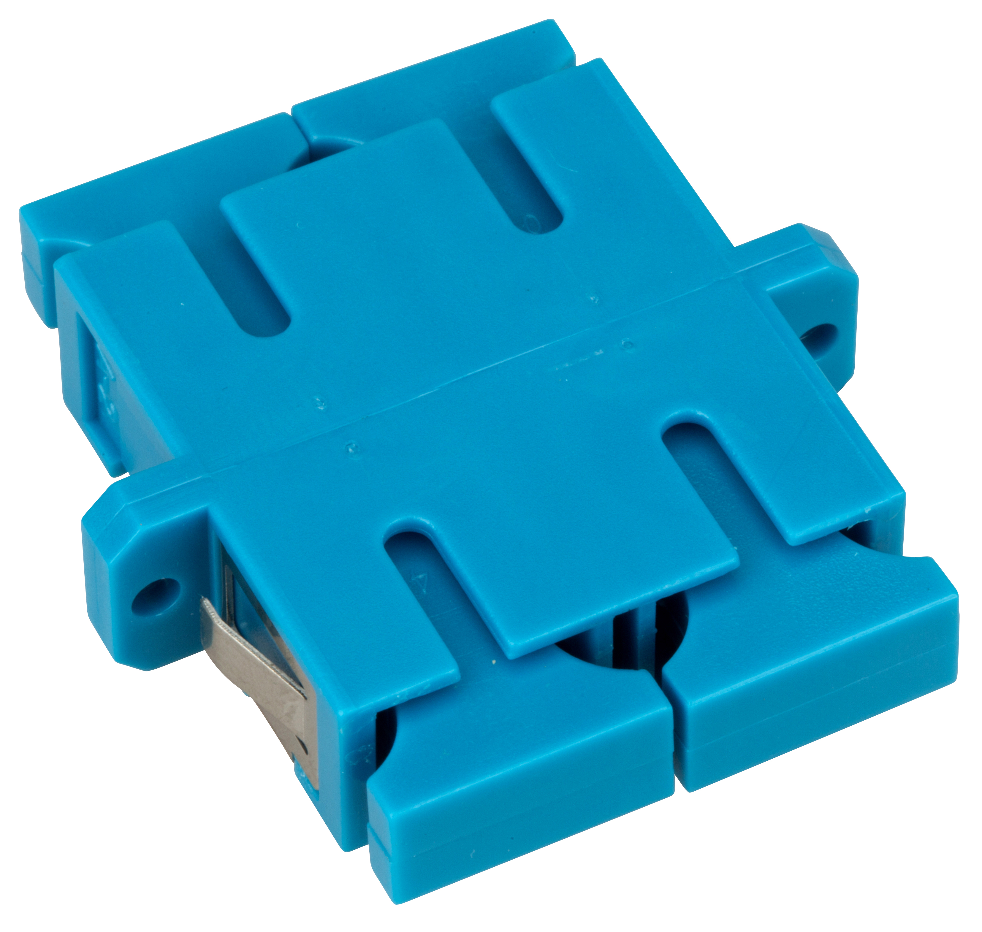 1 Stk LWL Kupplung SC-Duplex, Singlemode, zirc, Flansch, blau, ECO HMOLE00054