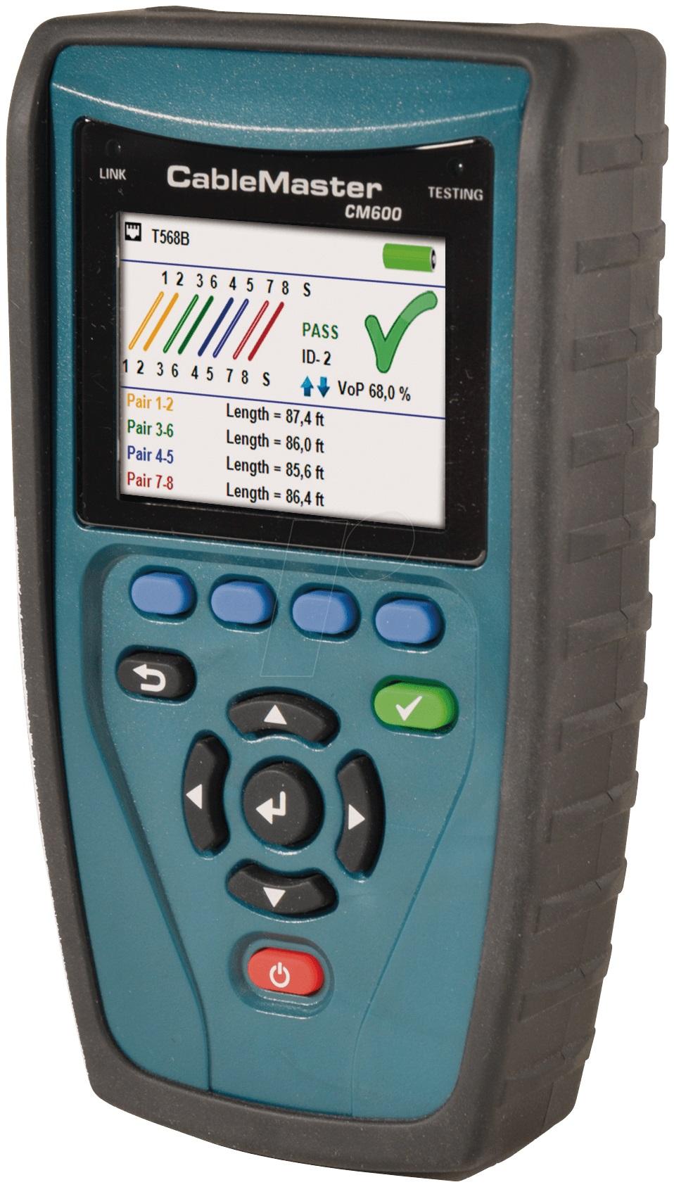 1 Stk CableMaster 600  Verdrahtungstester, Längenmessung, PoE HMSCM600--