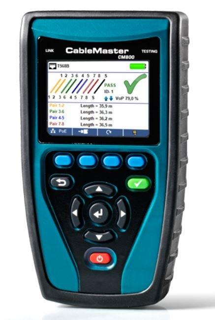 1 Stk CableMaster 800  Verdrahtungstester+, Längenmessung, PoE HMSCM800--