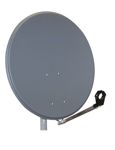 1 Stk SAT Antenne  80/75cm, Stahl,39dB Gain,Arm klappbar,Anthrazit HSATA080SA