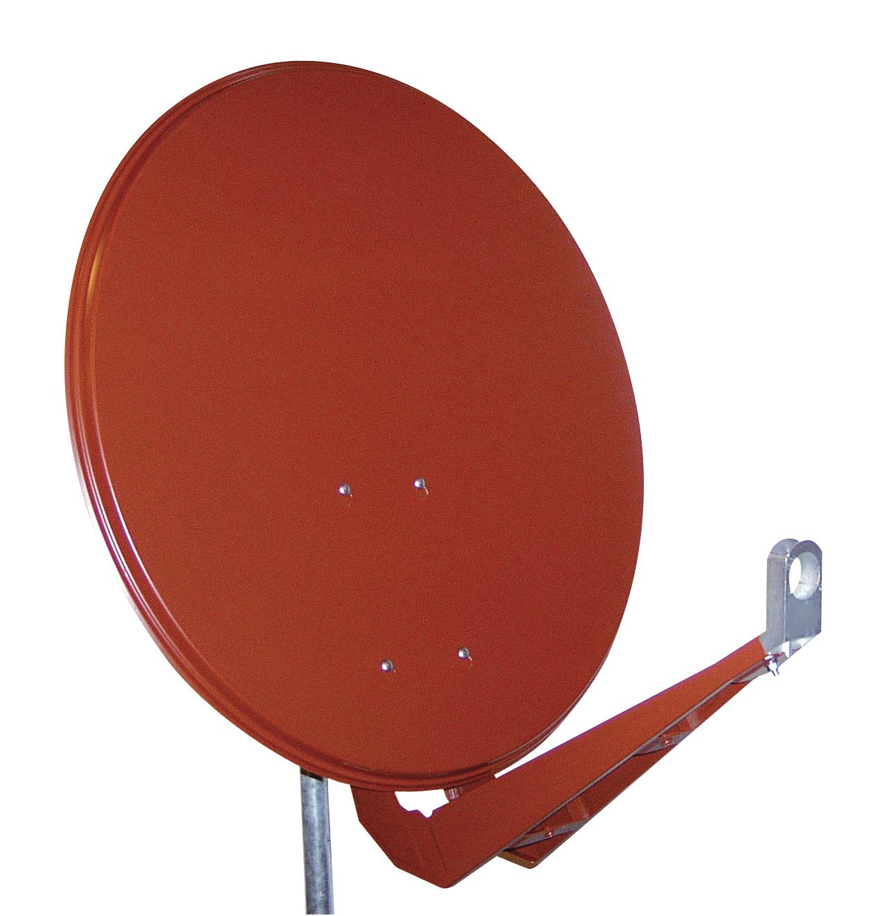 1 Stk SAT Antenne  85/80cm, Alu,40dB Gain,Doppel Monoblock Arm,Rot HSATA085AR