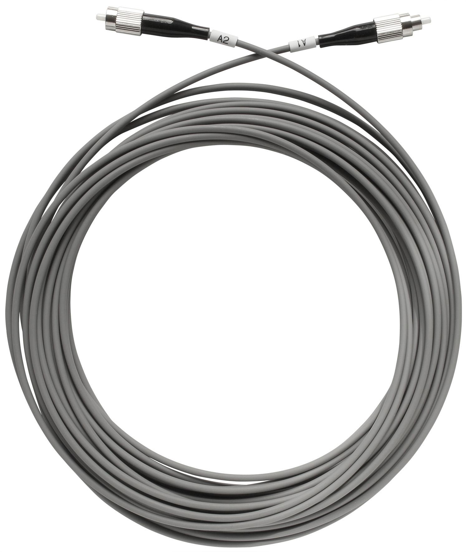 1 Stk SAT LWL-Patchkabel, FC/PC-Stecker, grau, 10m, OAK 10-01 HSATFKS010