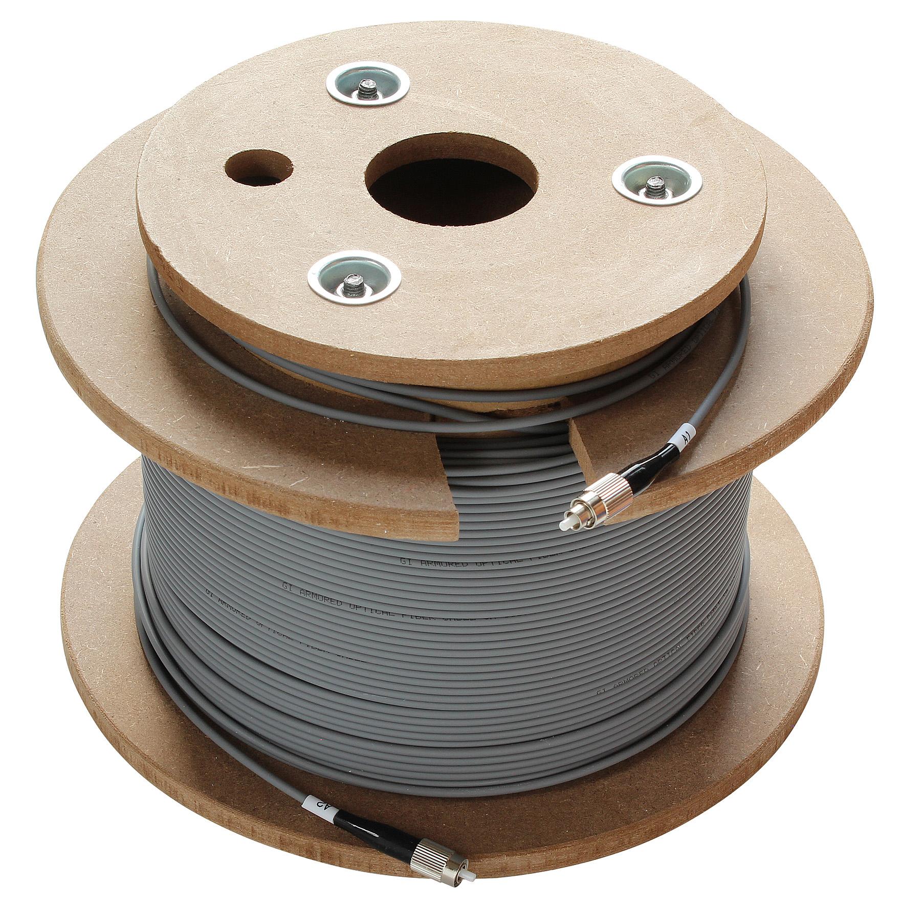 1 Stk SAT LWL-Patchkabel, FC/PC-Stecker, grau, 200m, OAK 200-01 HSATFKS200