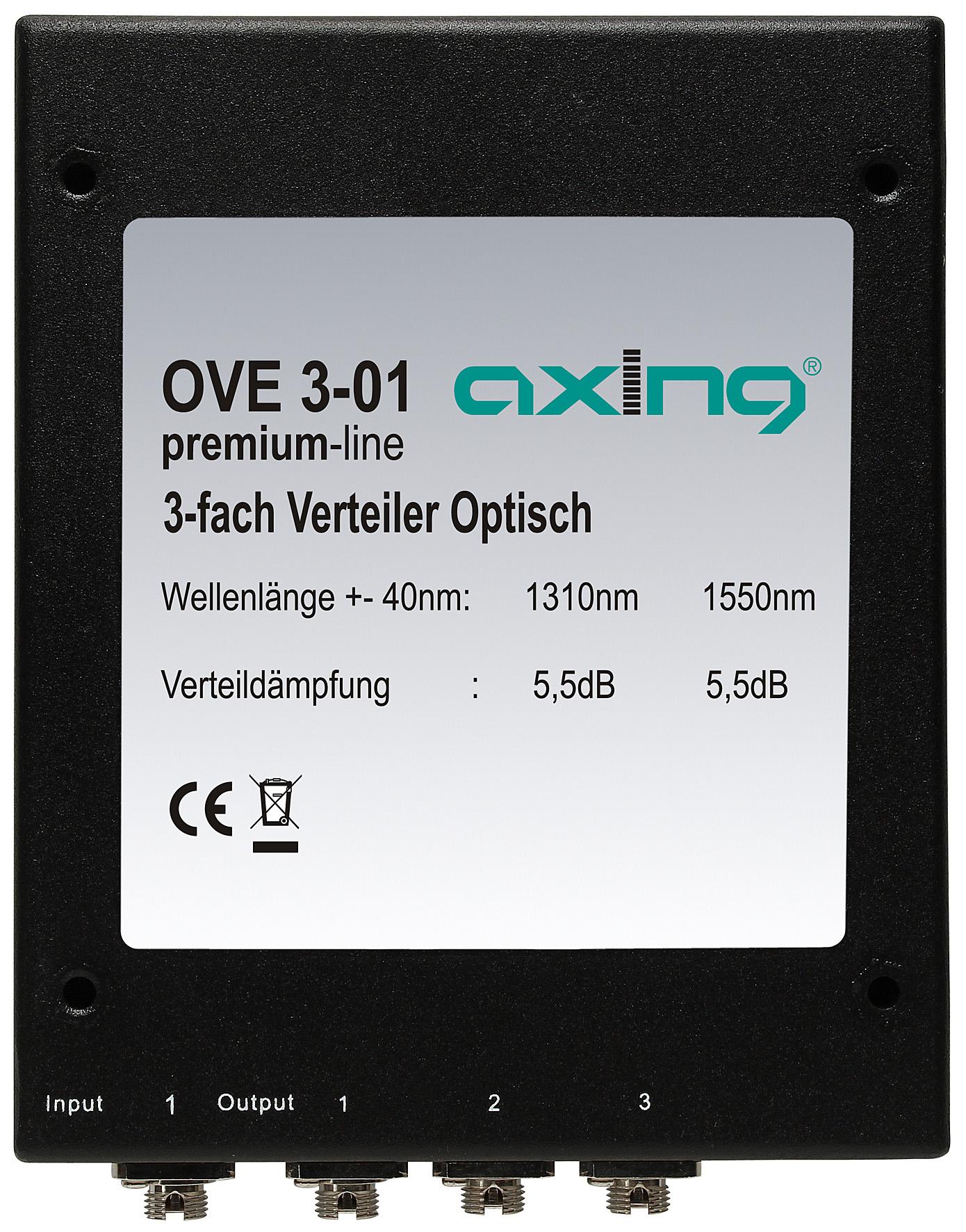 1 Stk SAT LWL optischer 3-fach Verteiler, FC/PC-Stecker, OVE 3-01 HSATFV3---