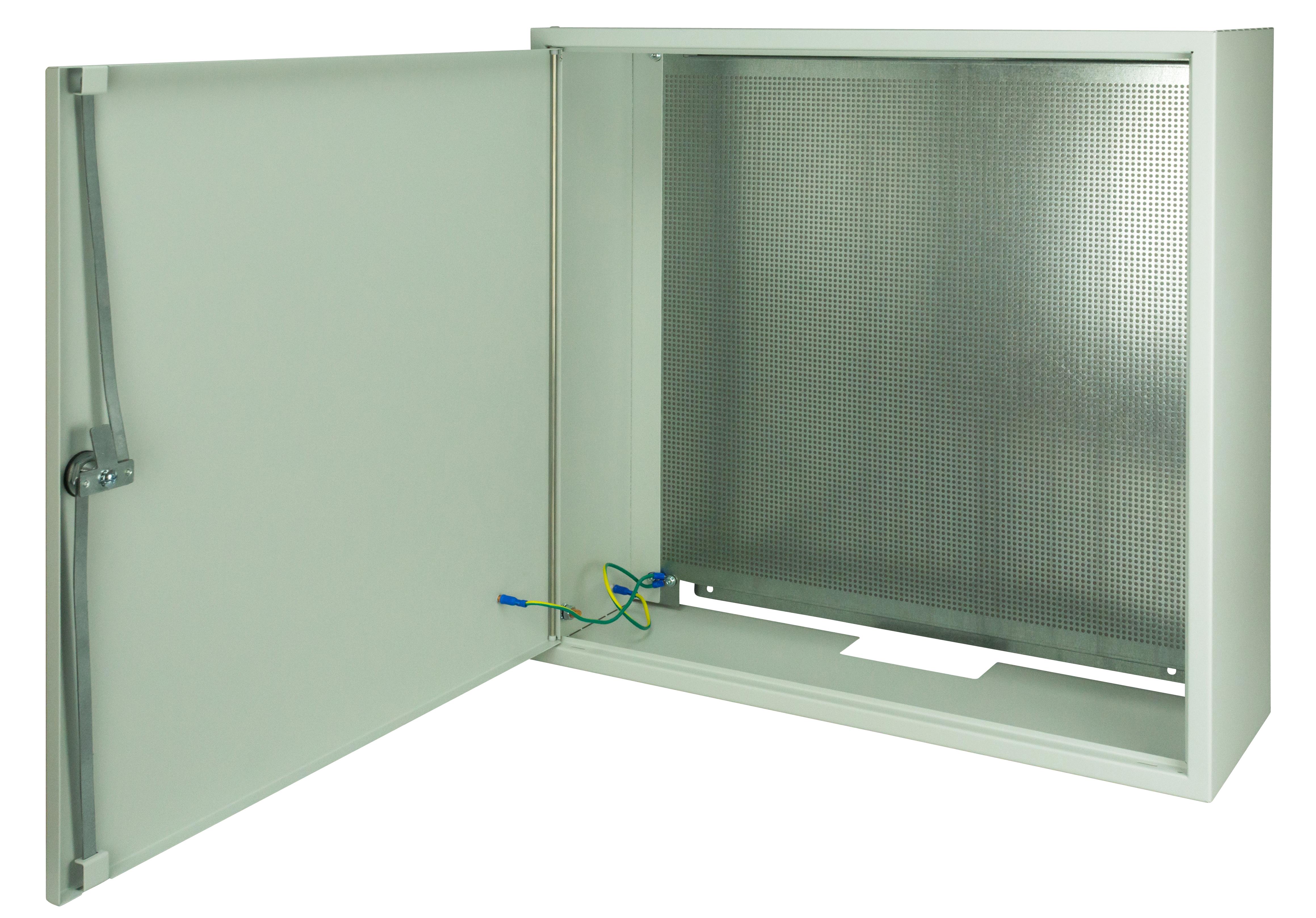 1 Stk SAT Gehäuse Stahl, Loch-Montageplatte,3-Punkt,B600xH600xT200 HSATG662M-