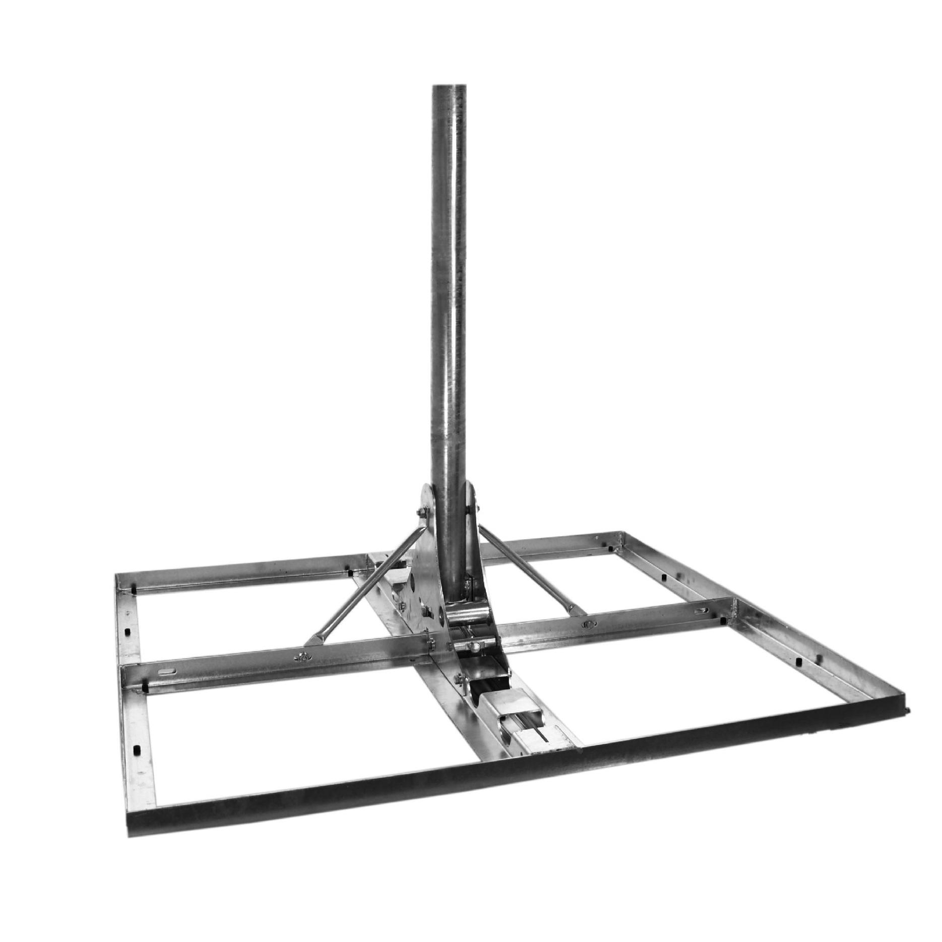 1 Stk SAT Flachdach-Ständer,f. 4xBeton 50x50cm, Mast=110cm, Stahl HSATMF11S-